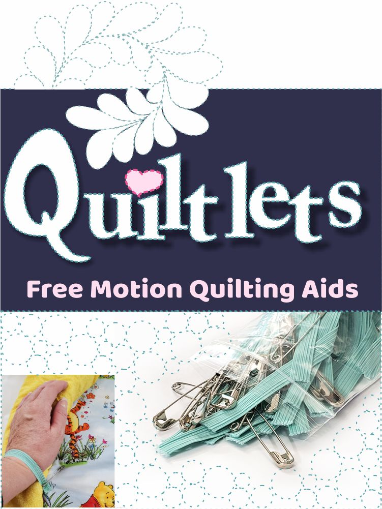 Quiltlets free motion quilting aids logo