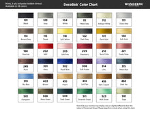 Load image into Gallery viewer, WonderFil DecoBob polyester sewing thread color chart