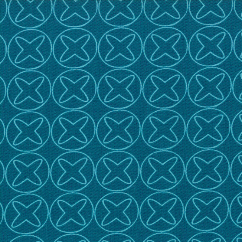 Sphere Turquoise Geometric by Zen Chic for Moda (Yardage, 100% Cotton)