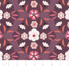 Quilting Fabric Yardage - Captivate Damask in Plum by Alisse Courter for Camelot Fabrics (100% Cotton, Quilting Fabric)