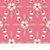 Quilting Fabric Yardage - Captivate Mosaic in Geranium by Alisse Courter for Camelot Fabrics (100% Cotton, Quilting Fabric)