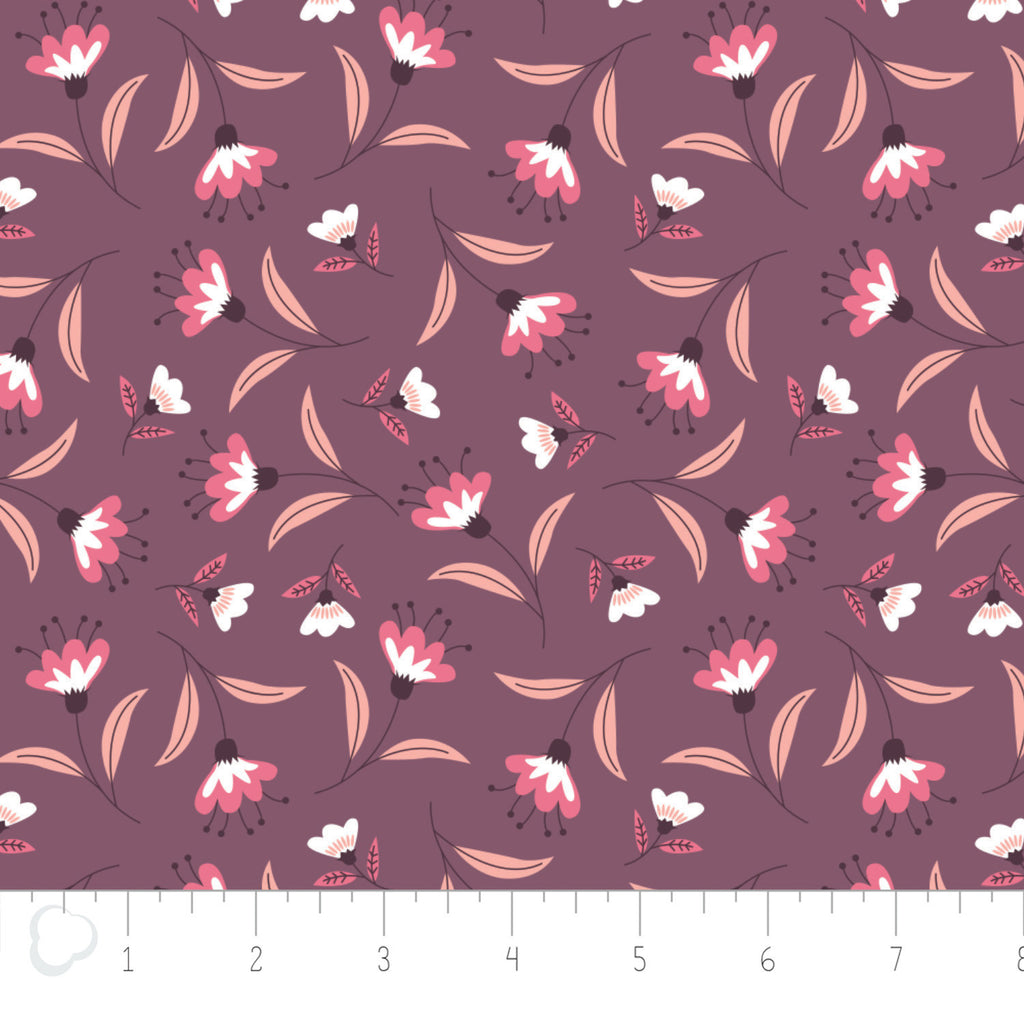 Quilting Fabric Yardage - Captivate Blossoms in Light Plum by Alisse Courter for Camelot Fabrics (100% Cotton, Quilting Fabric)