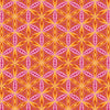 Quilting Fabric Yardage - Transformation Flower of Life Orange / Pink by Sarah Vedeler for Contempo Benartex (100% Cotton, Quilting Fabric)