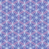 Quilting Fabric Yardage - Transformation Flower of Life Grape / Periwinkle by Sarah Vedeler for Contempo Benartex (100% Cotton, Quilting Fabric)