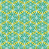 Transformation Flower of Life Turquoise / Green by Sarah Vedeler for Contempo Benartex (100% Cotton, Quilting Fabric Yardage)
