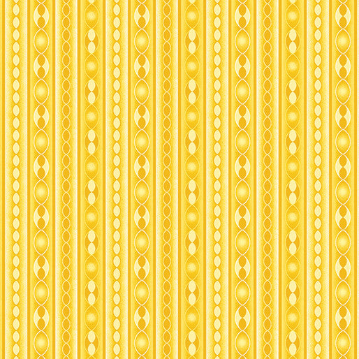 Quilting Fabric, Transformation, Stripe Yellow, Sarah Vedeler, Contempo / Benartex