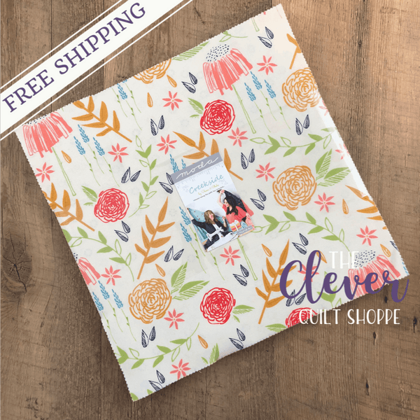 Layer Cake, Squares, Creekside, Moda-The Clever Quilt Shoppe