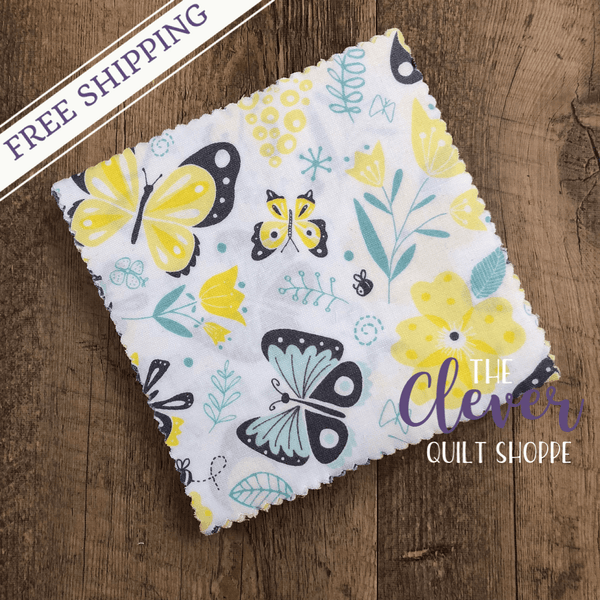 Charm Pack Squares, Flutter and Buzz, Camelot Fabrics-The Clever Quilt Shoppe