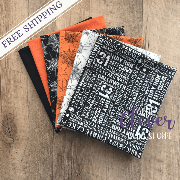 Halloween Fat Quarter Bundle, Trick or Treat, Carta Bella, Penny Rose Fabrics, 6 Fat Quarters-Custom Bundle-Misc-The Clever Quilt Shoppe