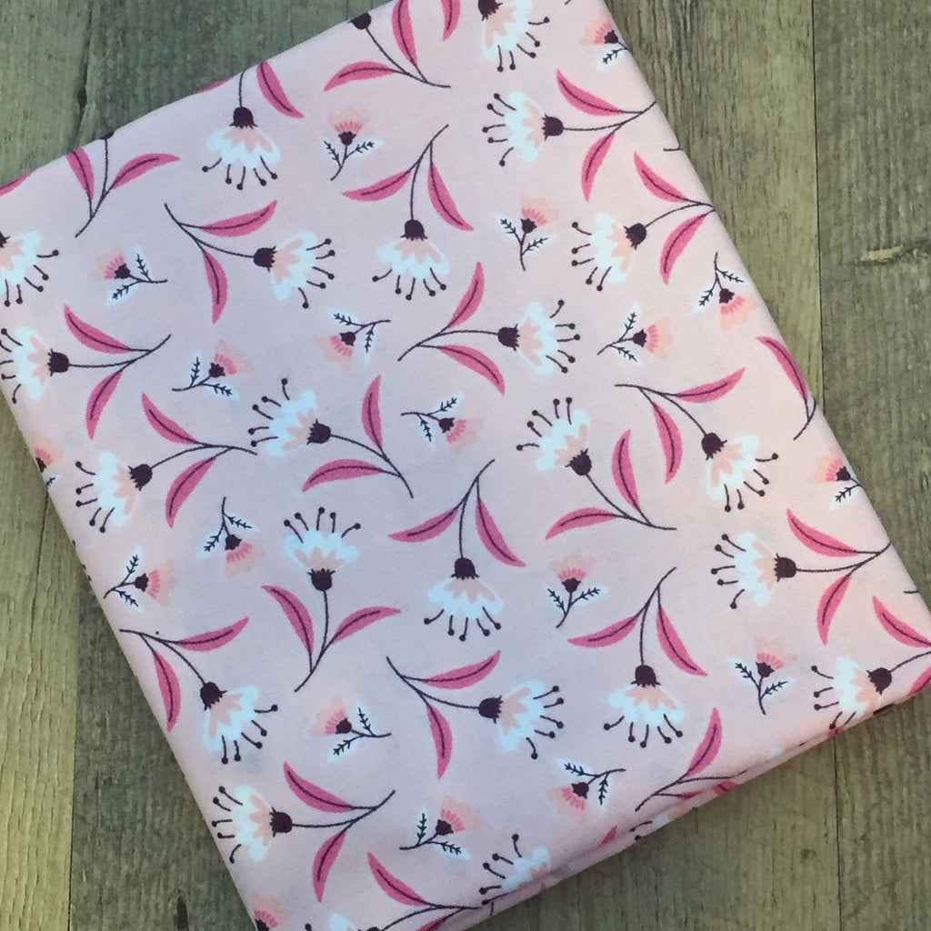 Quilting Fabric Yardage - Captivate Blossoms in Pink by Alisse Courter for Camelot Fabrics (100% Cotton, Quilting Fabric)