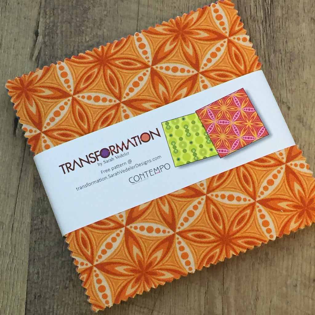 "Charm Pack Quilting Fabric - 5"" Squares - Transformation by Sarah Vedeler for Contempo / Benartex (Precut Quilting Fabric, 100% Cotton)"