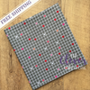 Lovebug Grid Gray of Lovebugs Collection by Doodlebug Designs for Riley Blake Designs
