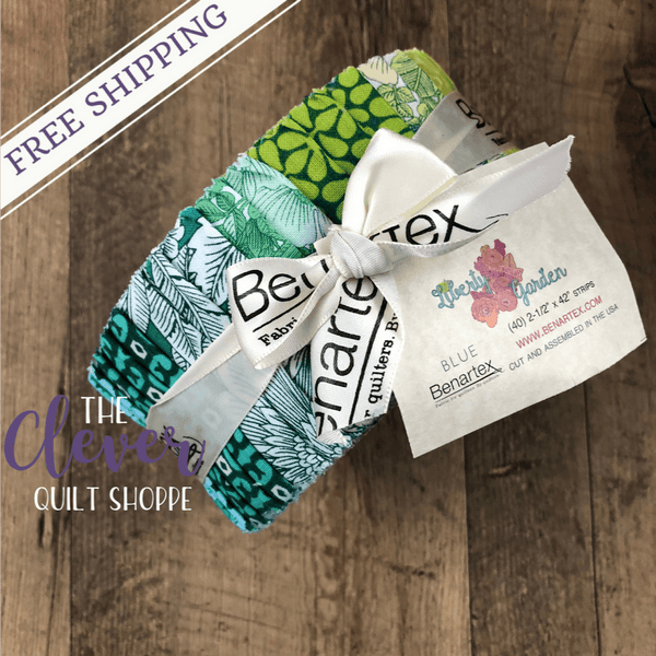 Jelly Roll, Strips, Liberty Garden, Benartex-The Clever Quilt Shoppe