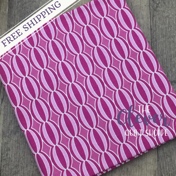 Botanique Circles Berry by Lila Tueller Designs for Riley Blake (100% Cotton, Quilting Fabric)-The Clever Quilt Shoppe