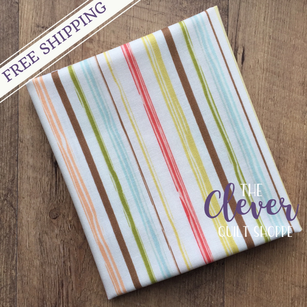 Cream Stripe of Woodland Springs by Designs by Dani for Riley Blake Designs (Yardage, 100% Cotton Quilting Fabric)