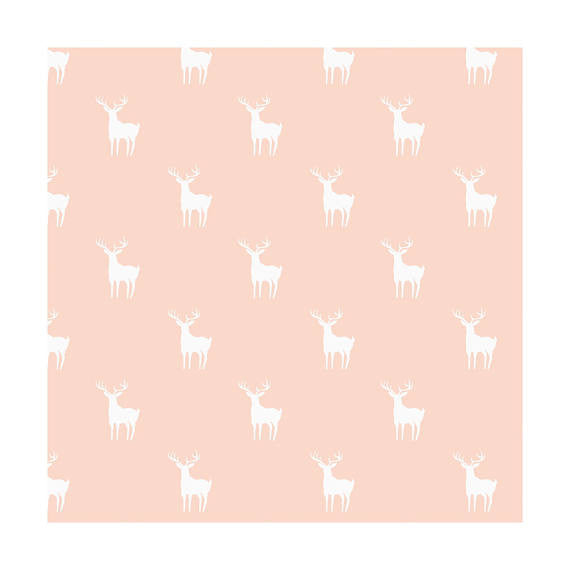 Meadow Deer Blush (Pink), Camelot Fabrics  (100% Cotton Quilting Fabric, Yardage)