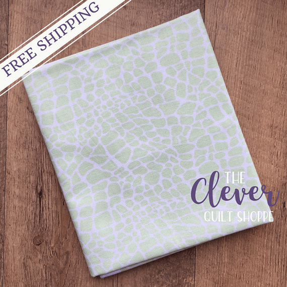 Minty Croc Blender, My Gray or the Highway, Jack!e, Camelot Fabrics, 100% Cotton Quilting Fabric Yardage-The Clever Quilt Shoppe