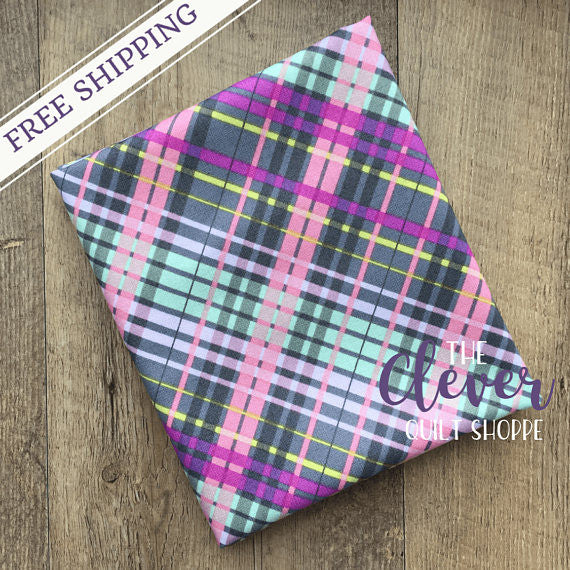 Colorful Plaid in Gray, My Gray or the Highway, Jack!e, Camelot Fabrics-The Clever Quilt Shoppe