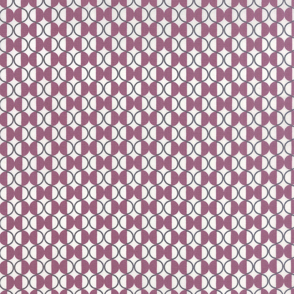 Quilting Fabric by the Yard - Chic Neutrals - Maroon and Gray by Amy Ellis for Moda (100% Cotton, Quilting Yardage Fabric, Basics, Backing)