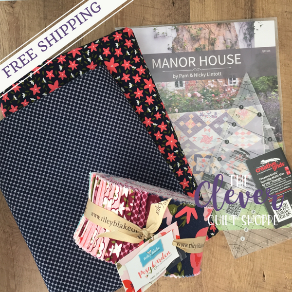 Manor House Quilt Kit (Includes Backing!)-The Clever Quilt Shoppe