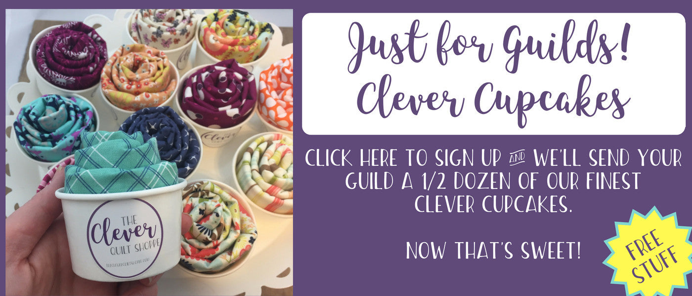 Free Fat Quarter Cupcakes for Guilds or Clubs