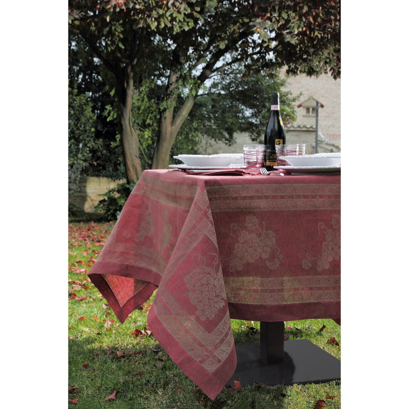 <transcy>RUSTIC PURE LINEN GRAPE TABLECLOTH</transcy>