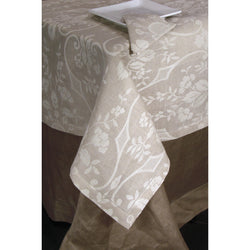 <transcy>DAMASCUS TABLECLOTH IN LINEN BLEND (50% COTTON 50% LINEN)</transcy>