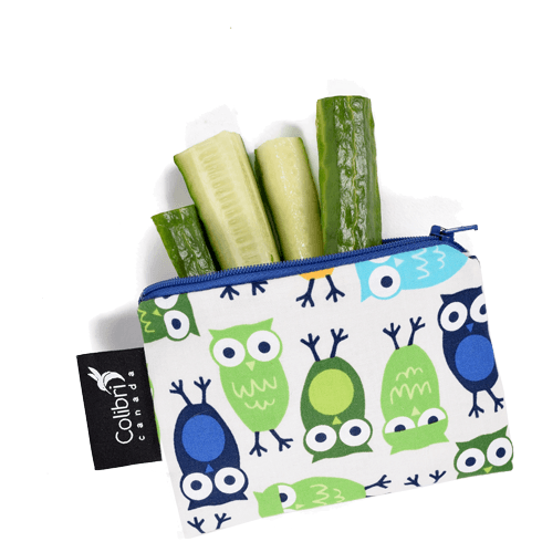 Colibri Canada Small Reusable Snack Bag - Owls