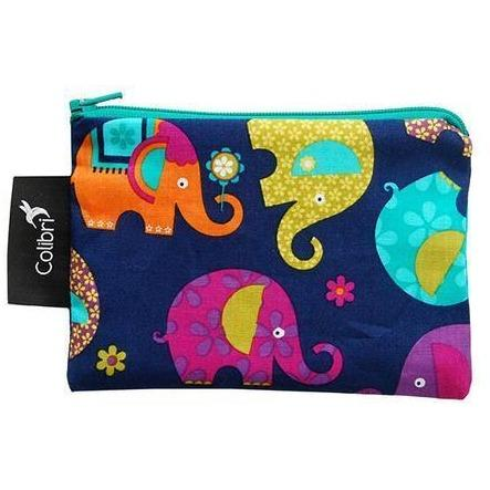 Colibri Canada Small Reusable Snack Bag - Elephants