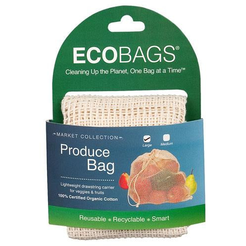 ECOBags Organic Cotton Produce Bags Set of 3 - Large