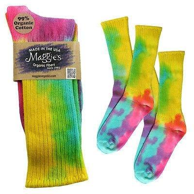 Maggie's Organics Cotton Crew Soft Color Tie Dye Socks - Robinsons Nest