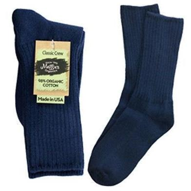 Maggie's Organics Cotton Crew Socks Singles Made in USA Choice of Colors & Sizes - Robinsons Nest - 7