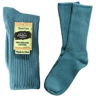 Maggie's Organics Cotton Crew Socks Singles Made in USA Choice of Colors & Sizes - Robinsons Nest - 5