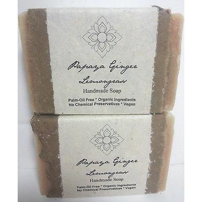 Certified Organic Handmade Soap Papaya Ginger Lemongrass Palm Oil Free Bar - Robinsons Nest