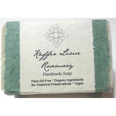 Certified Organic Handmade Soap Kaffir Lime Rosemary Palm Oil Free Bar - Robinsons Nest - 1