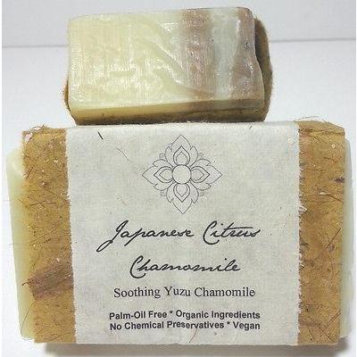 Certified Organic Handmade Soap Japanese Citrus Chamomile Palm Oil Free Bar - Robinsons Nest