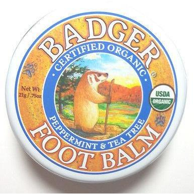 Badger Certified Organic Foot Balm for Dry Cracked Feet w/ Peppermint  2 Sizes - Robinsons Nest