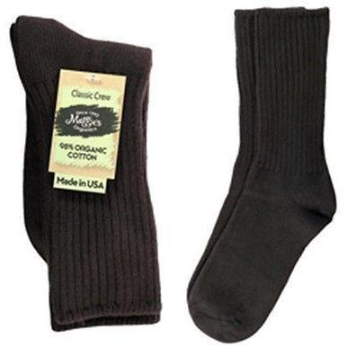 Maggie's Organics Cotton Crew Socks Singles Made in USA Choice of Colors & Sizes - Robinsons Nest - 1