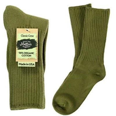Maggie's Organics Cotton Crew Socks Singles Made in USA Choice of Colors & Sizes - Robinsons Nest - 4