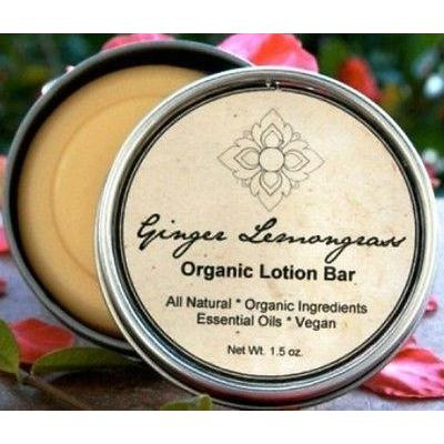 Ginger Lemongrass Organic Handmade Hand & Body Lotion Bar - Robinsons Nest