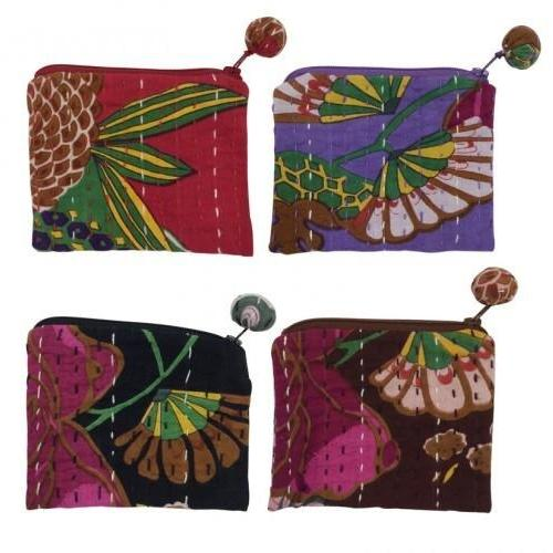Hand Stitched Kantha Cosmetic Bag by Global Girlfriend - Robinsons Nest
