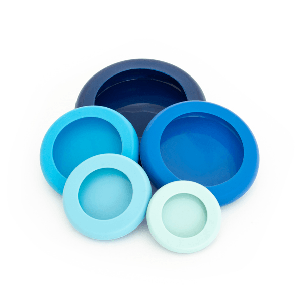 Set of 5 Food Huggers Ice Blue