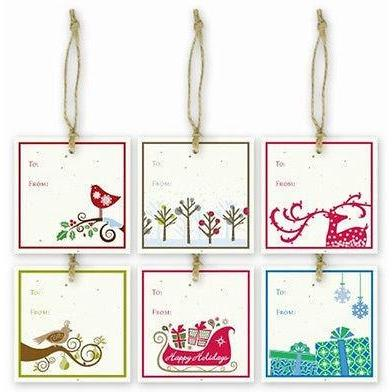 Christmas Holiday Plantable Gift Tags Variety Pack of 6 Grow A Note Made in USA - Robinsons Nest