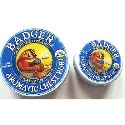 Badger Certified Organic Aromatic Chest Rub Eucalyptus & Mint  2 Sizes - Robinsons Nest - 2