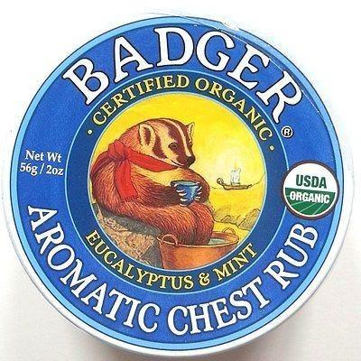 Badger Certified Organic Aromatic Chest Rub Eucalyptus & Mint  2 Sizes - Robinsons Nest