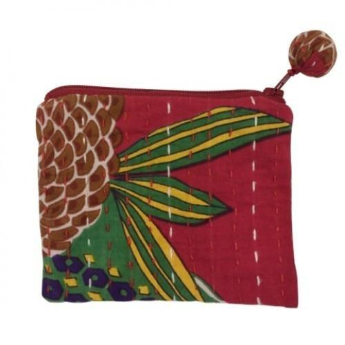 Hand Stitched Kantha Cosmetic Bag by Global Girlfriend - Robinsons Nest - 2
