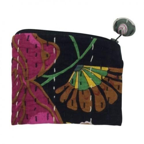 Hand Stitched Kantha Cosmetic Bag by Global Girlfriend - Robinsons Nest - 5