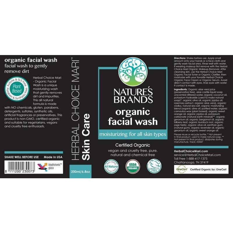 Herbal Choice Mari Organic Face Wash for Normal to Oily Skin