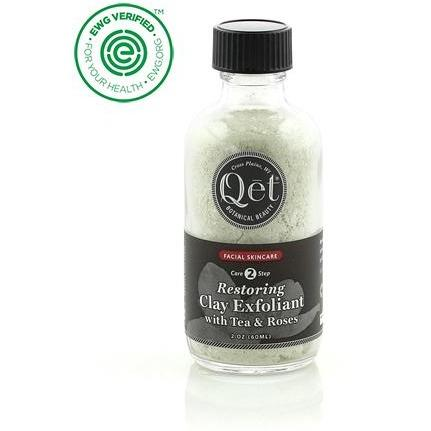 Restoring Clay Exfoliant with Tea and Roses by Qet Botanicals - Robinsons Nest