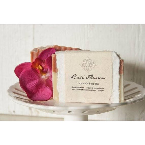 Bali Flowers Organic Handmade Soap Palm Oil Free Bar - Robinsons Nest